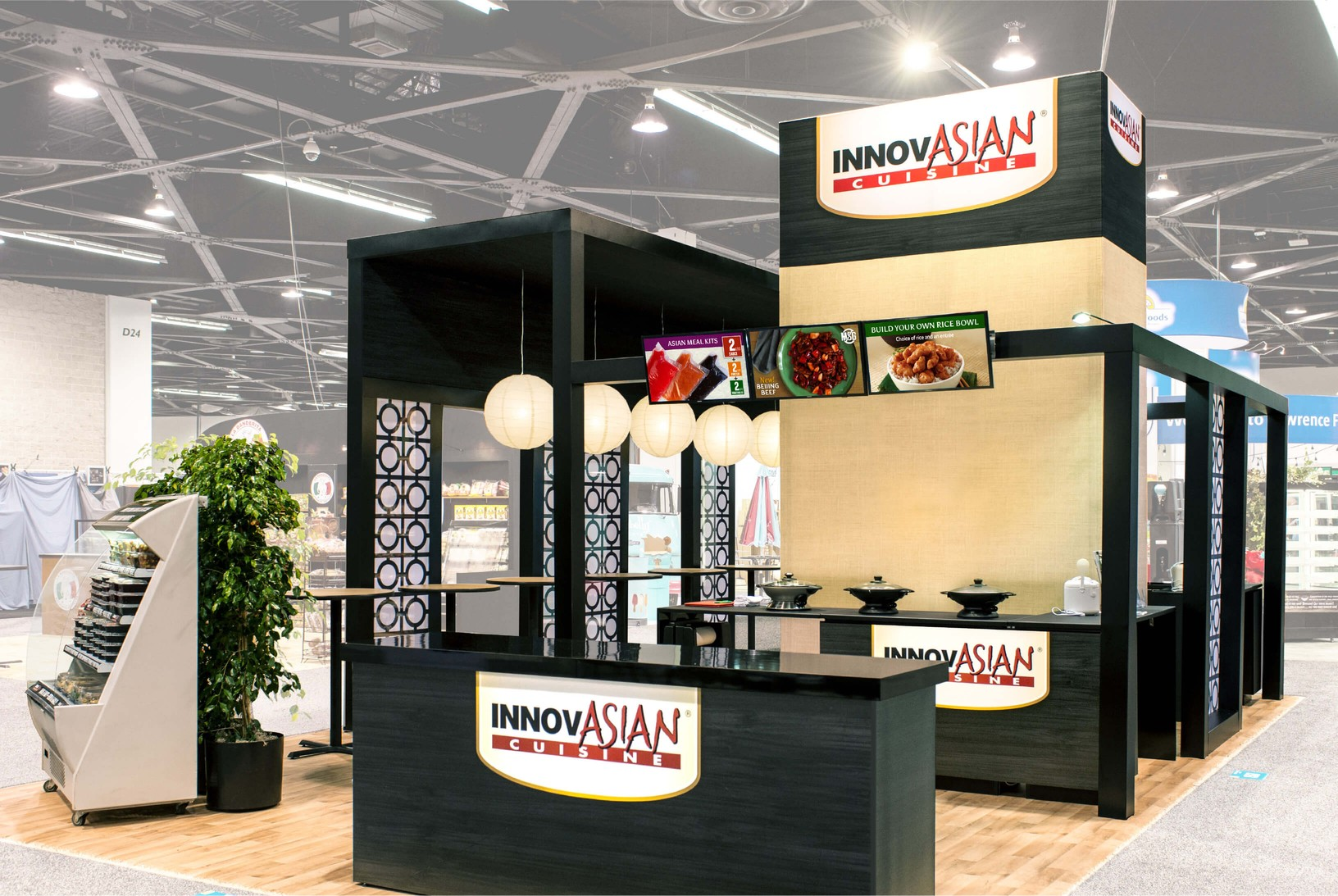 Large InnovAsian Cuisine booth
